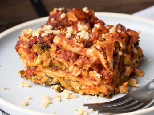 Super Easy Vegan Vegetable Lasagna