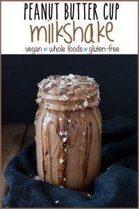 Vegan peanut butter cup milkshake