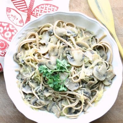 Creamy Mushroom Alfredo- my guest post on Vegetarian Gastronomy