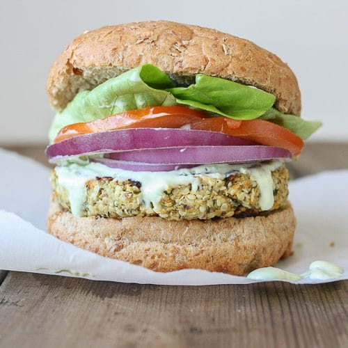 Hemp Cauliflower Burger - Veggies Don't Bite