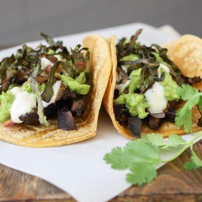 Portobello & Purple Potato Tacos