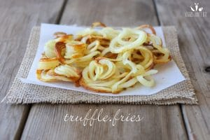 Baked truffle curly fries