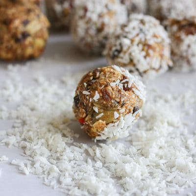 A close up of raw superfood balls