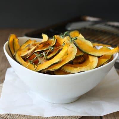Baked Kabocha Squash Chips