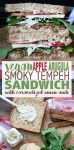 The vegan tempeh sandwich that encompasses fall and all its flavors! Smoky tempeh, sweet apples and spicy arugula, a perfect dipper for those winter soups. #vegan #plantbased #fallrecipes #veganlunch