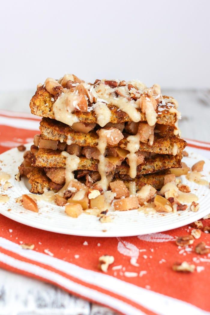 Cinnamon Apple Pumpkin Pie French Toast - Veggies Don't Bite