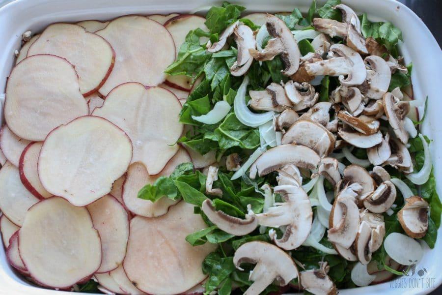 Creamy potato and veggie casserole