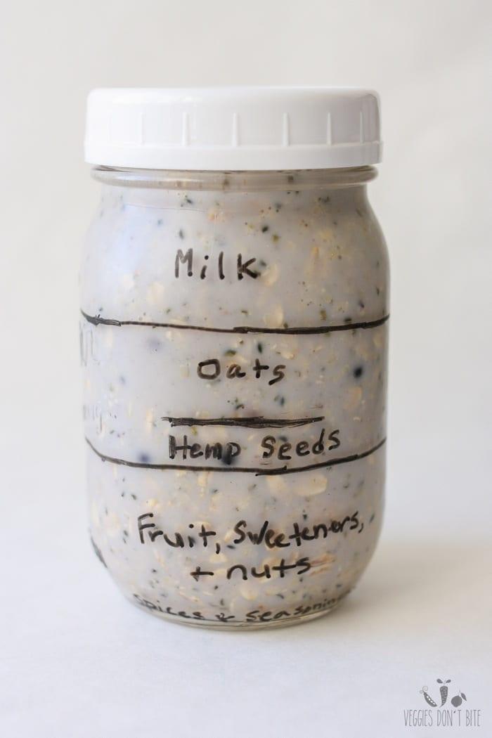 Veggies Don't Bite Overnight Oats Jar