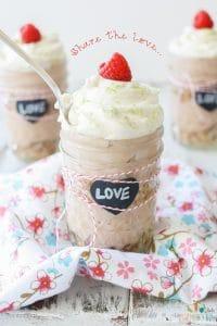 Key lime raspberry pudding parfait