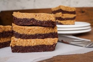 easy chocolate peanut butter brownies