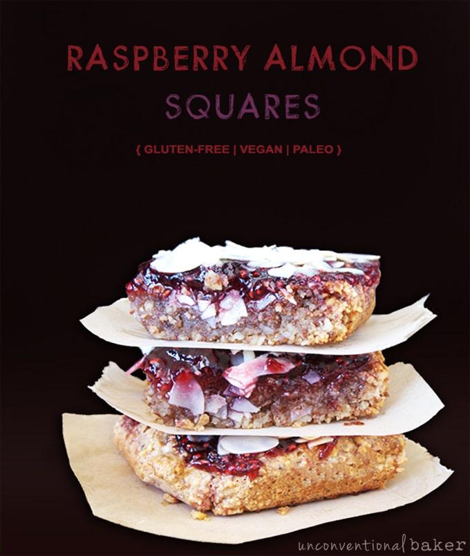 raspberry almond squares