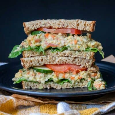 Vegan Mashed Chickpea Salad Sandwich