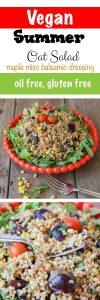 Vegan Arugula Salad with Maple Miso Balsamic Dressing