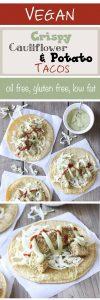 Crispy cauliflower tacos with tangy dill crema