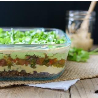7 layer vegan taco dip