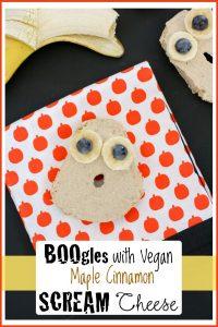 vegan bagels with maple cinnamon cream cheese
