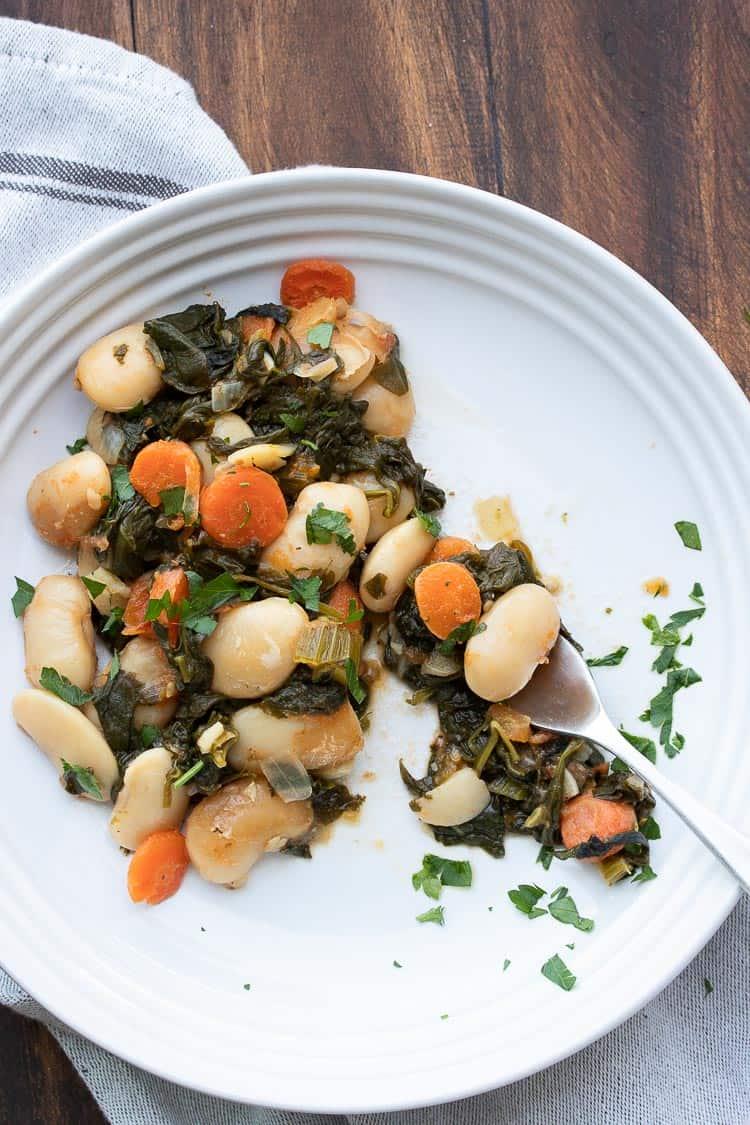 Baked Lima Bean Recipe (Gigantes Plaki) - Veggies Don't Bite