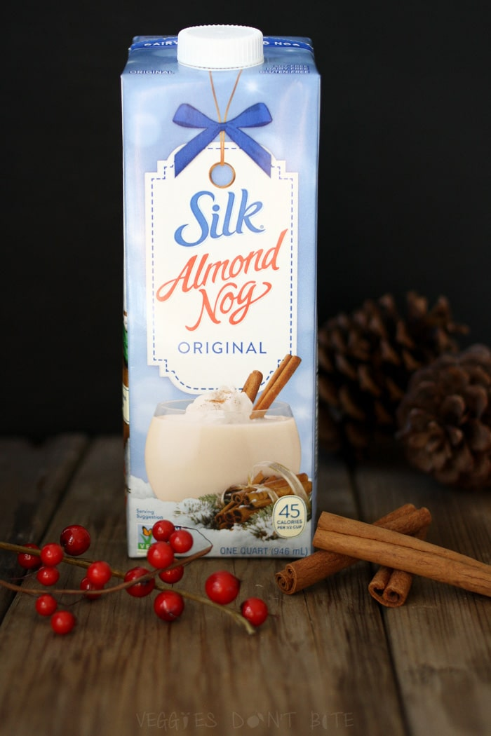 Starbucks latte inspired eggnog pudding with silk almond nog