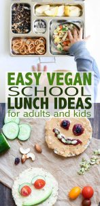 Easy Vegan School Lunch Ideas