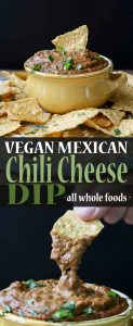 Vegan Mexican chili cheese dip