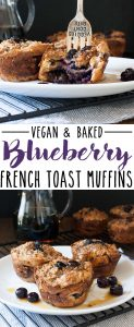 Mixing up breakfast in the most delicious way with blueberry flavored french toast made into vegan breakfast muffins! Easy to put together and prep ahead. #veganbreakfastrecipes #veganmuffins #sponsored #LoveMySilk