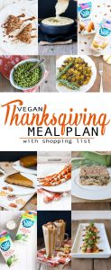 Vegan Thanksgiving Meal Plan with Shopping List