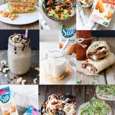 collage of 7 day weekly meal plan breakfast, dinner and dessert