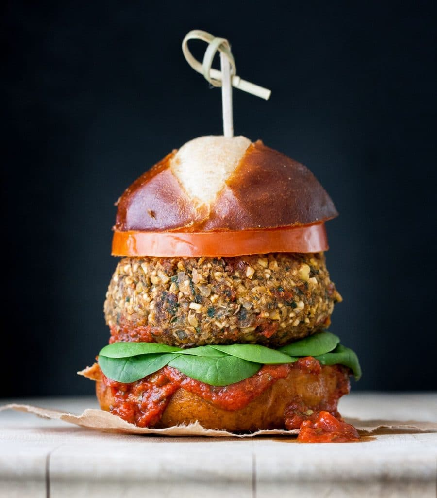 Vegan Meatball Burger