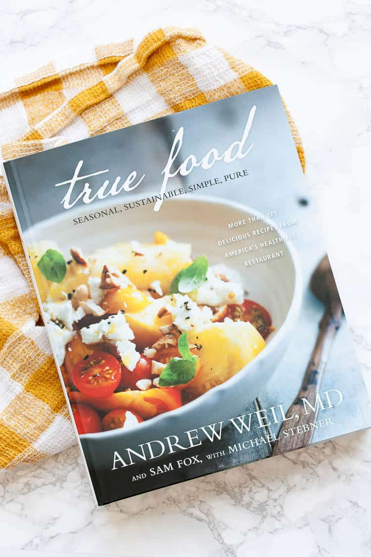 A cover shot of the true food cookbook