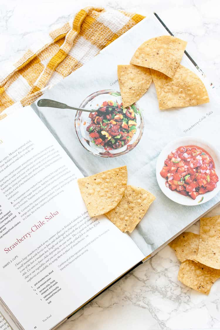 Strawberry chile salsa recipe from True Food Kitchen cookbook