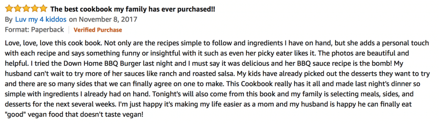A review of the cookbook vegan burgers and burritos from amazon