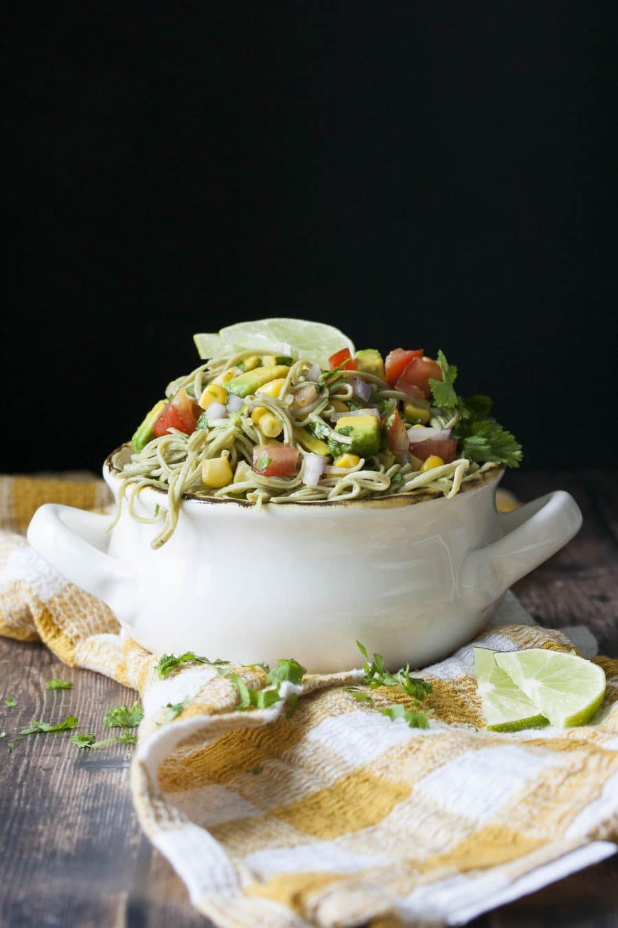 Fast High Protein Mexican Fiesta Pasta Salad