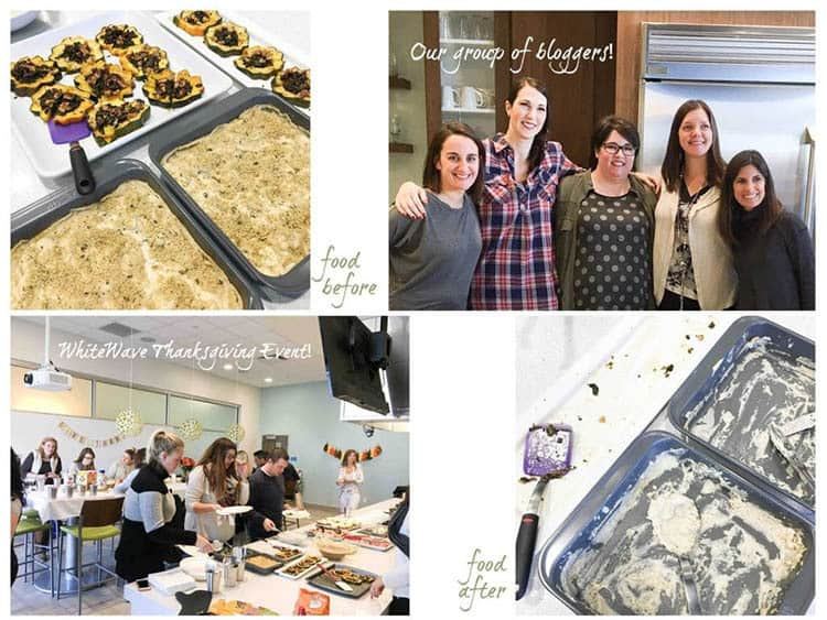 Collage of photos of food bloggers and Thanksgiving recipes