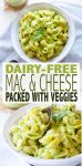Delicious creamy dairy-free mac and cheese with greens you don't even taste! Make food fun again in the best healthy way possible! #dairyfreerecipes #healthykidsmeals