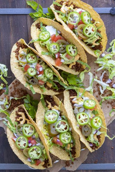 High-Protein Low-Fat Vegan Taco Meat (Made with Whole Foods)