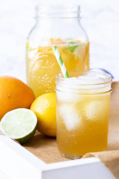 Sparkling Antioxidant Citrus Tea