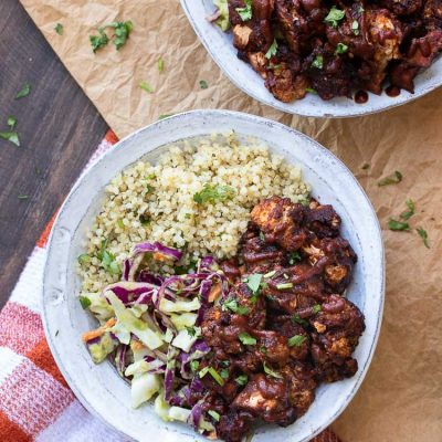 BBQ Cauliflower Bites Bowl