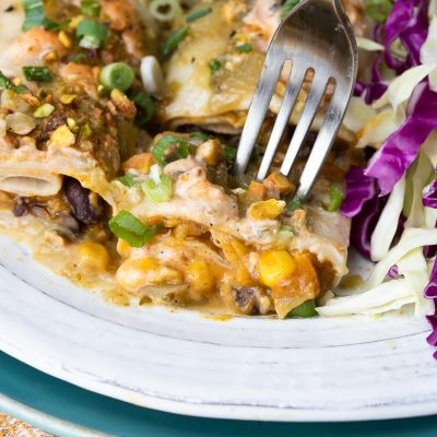Vegan Black Bean and Pumpkin Enchiladas
