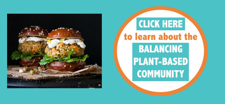 Website button about the balancing plant-based community