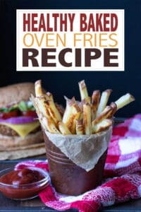 This baked oven fries recipe is simple but perfect. With a variety of options to get the crispiest fries ever, you won't need to turn anywhere else! #bakedfrenchfries #healthyrecipes