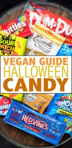 A comprehensive list of vegan Halloween candy to make your holiday the best ever! Whether you're on team fruity or team chocolate, there is a candy for you! #vegancandy #veganhalloween