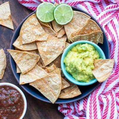 Oil-Free Baked Corn Tortilla Chips