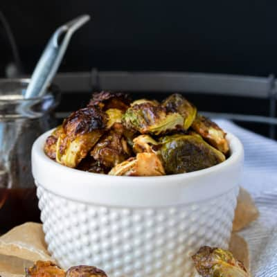 Spicy Maple Roasted Brussels Sprouts