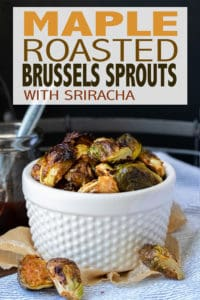 These vegan maple Brussel sprouts are roasted to perfection with an optional spicy twist. They are super simple to make but add the perfect touch to any meal! #vegansidedishes #easyveganrecipes