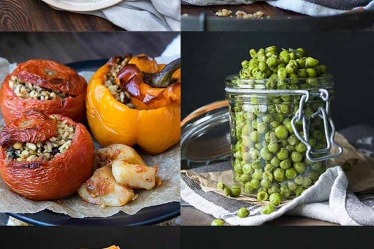 Collage of different Greek recipes for Christmas
