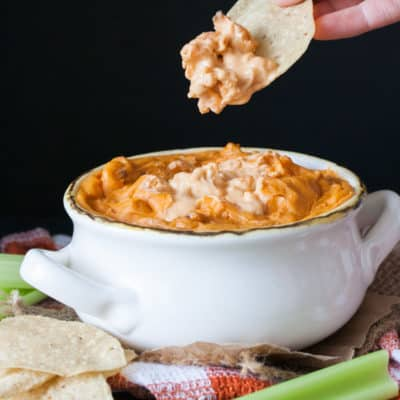 Baked Vegan Buffalo Chicken Dip