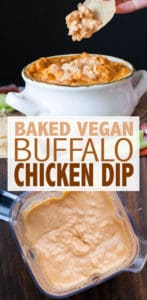 I took a traditionally dairy filled party staple and turned it into a hot, creamy and mouthwatering vegan buffalo chicken dip! The most amazing remake ever! #veganappetizers #healthyrecipes #TastesLikeBetter #ad
