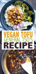 This vegan tofu General Tso recipe is bursting with flavor, easy to make and a perfect healthier alternative to the traditional restaurant variation. #veganasianrecipes #takeoutrecipes