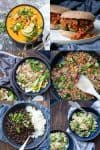 Collage of a variety of one pot dinners