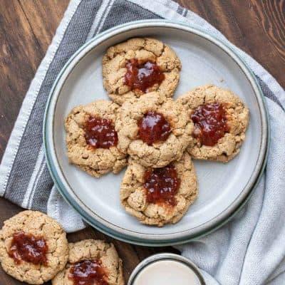 Easy Vegan Gluten-Free Thumbprint Cookies